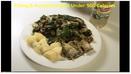 A Nutritious & Filling Meal Under 500 Calories (Sautéed Cabbage, Pineapples, & Sardines)